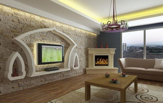 Modern Gypsum TV Wall Unit Decoration Design Ideas - Engineering Discoveries