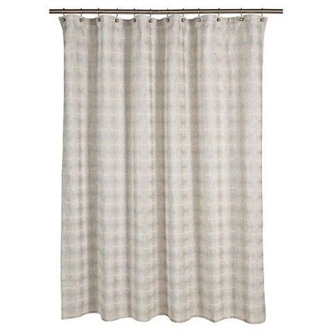 "Threshold™ Tile Grid Shower Curtain - Natural (72""x72"")"