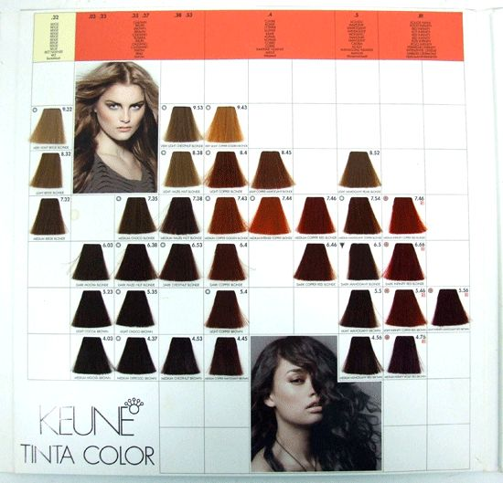 Keune Tinta Color Advanced Reference Hair Color Dye Professional Swatch Book Nw Hair Dye Colors Hair Color Professional Hair Color