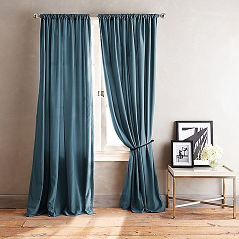 DKNY City Streets 108-Inch Window Curtain Panel in Teal | curtains ...