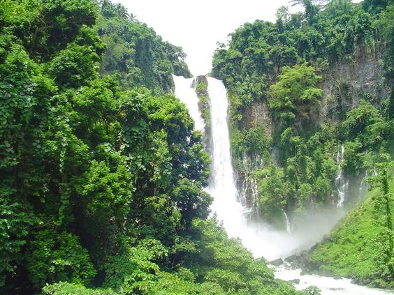 Maria Cristina Falls (Twin Falls) is a landmark of Iligan City, nicknamed the City of Majestic Waterfalls, because of the presence of more than 20 waterfalls - Mindanao Island, Philippines
