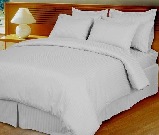 White Damask Stripe Down Alternative 4 Pc Comforter Set 100 Egyptian Cotton 600 Thread Count In 2021 Comforter Sets Luxury Comforter Sets Duvet Cover Sets