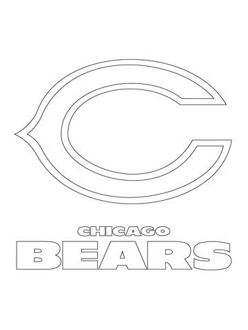 Chicago Bears Logo Coloring Page From Nfl Category Select From 20946 Printable Crafts Of Cartoons Nature Animals Bible And Many More Bear Coloring Pages Bear Stencil Chicago Bears