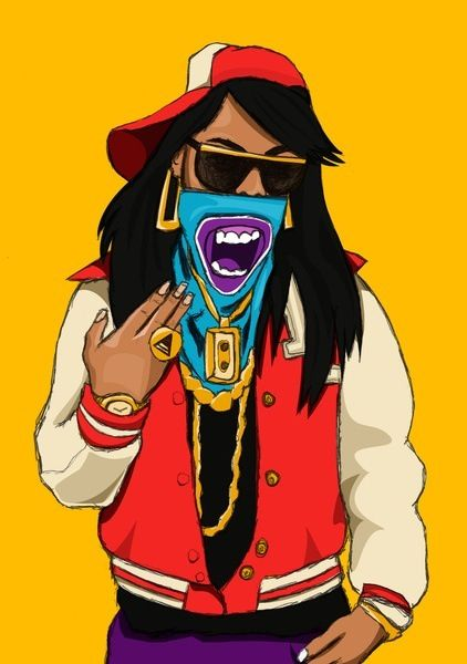 Swagg gangsta girl thrill art pinterest gangsta girl - Hood cartoon wallpaper ...