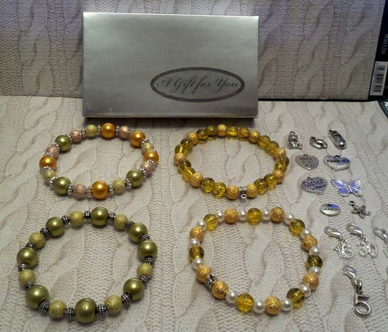 green gold silver BRACELETS can be personalised or charms added  SILVER GIFT BOX