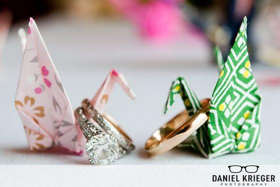 Origami cranes: