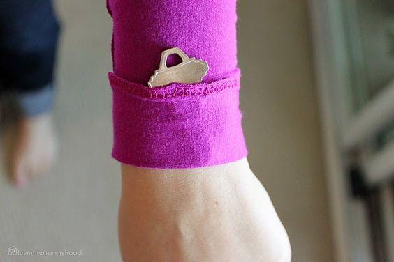 DIY key holder for the gym