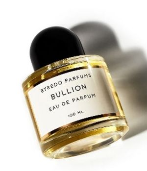 Bullion Byredo for women and men - Top notes are pink pepper and plum; middle notes are osmanthus, leather and magnolia; base notes are dark woodsy notes, sandalwood and musk.