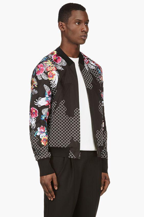 Black Lys Bomber Jacket | Coats UX/UI Designer and Jackets