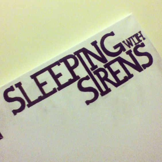band logo sleeping with sirens permanent marker on canvas