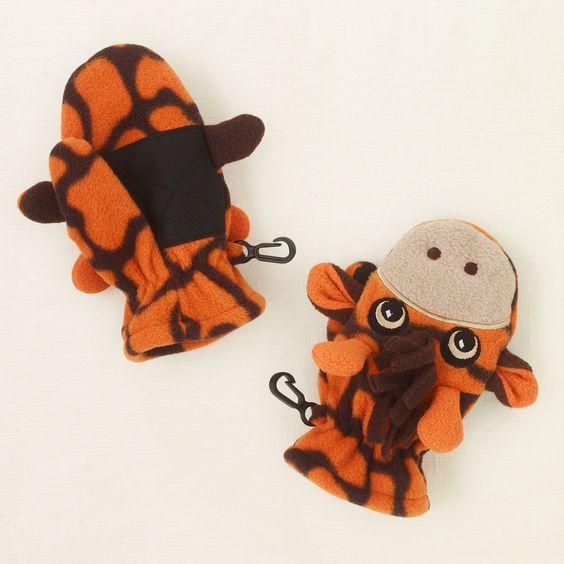 baby boy - outerwear - fleece giraffe mittens | Children's Clothing | Kids Clothes | The Children's Place