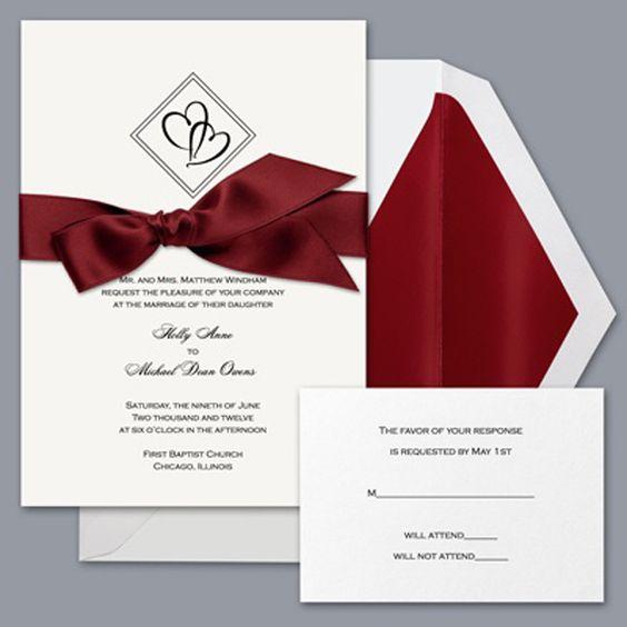 Diamond Wedding Invitation Label: Diamond Hearts Wedding Invitation Templates