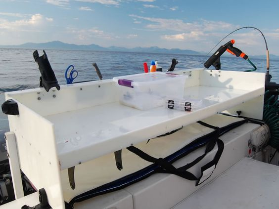 Learn how to build a professional fish cleaning table for for Fish cleaning board