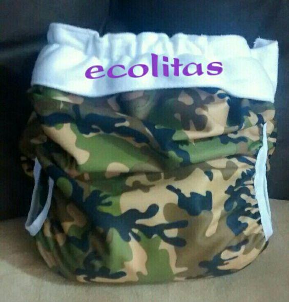Pañales de tela ecolitas modelo cobertor.