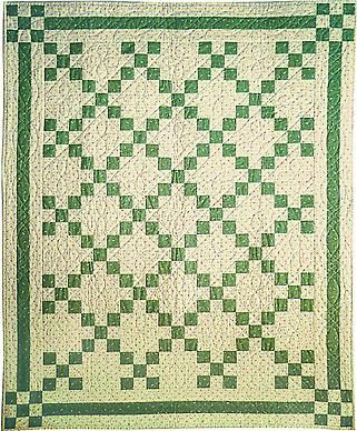 Since I'm heading to Ireland soon, I'm starting to research Irish quilting. Must get some fabric there!: