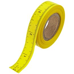 This is basically like masking tape. I use it on my tables to quickly measure things for jewelry making and sewing. :: Peel-n-Stick Ruler Tape from The Container Store