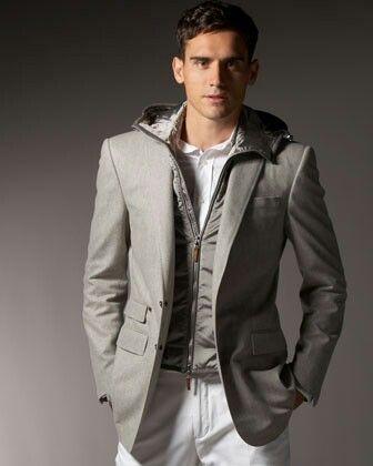 Hoodie under a Grey sport coat | Mens Style | Pinterest | Coats