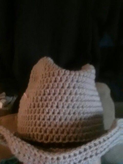 Cowboy crochet hat.