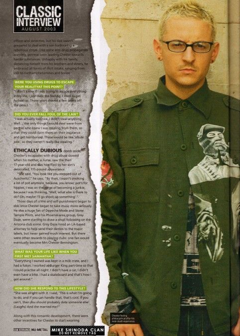 Chester Be On Mag Linkin Park Cool Bands Singer