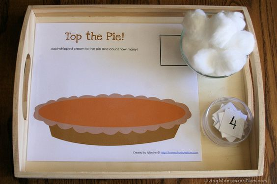 Montessori-Inspired Thanksgiving Math Activities and Free Thanksgiving Printables - LivingMontessoriNow.com
