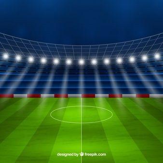 Fondo De Estadio De Futbol En Estilo Realista Estadio De Futbol Carteles De Futbol Decoracion Fiesta De Futbol
