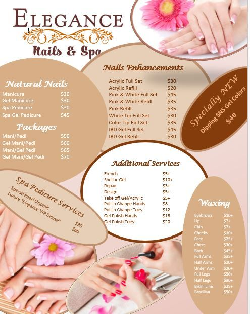 Price List 2015 Nail Salon Prices Nail Salon Design Business Nails