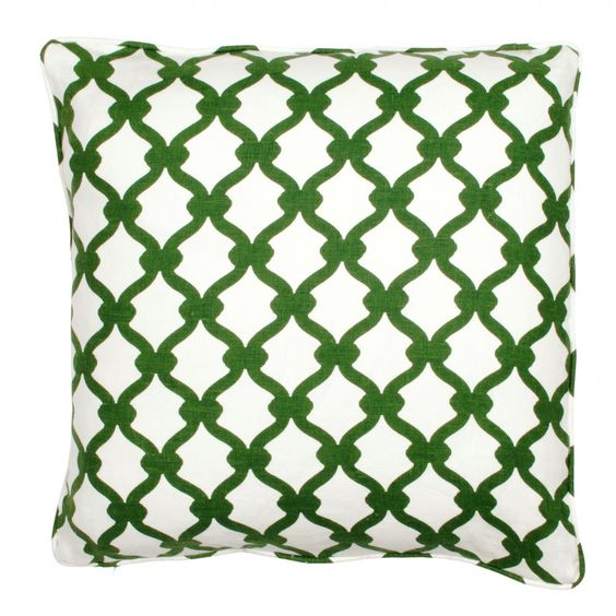 COCOCOZY Gate Linen Pillow in Hunter Green. http://shop.cococozy.com
