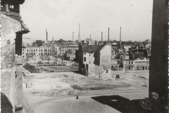 Forst Lausitz um 1946, Blick vom Markt in Richtung Lindenplatz