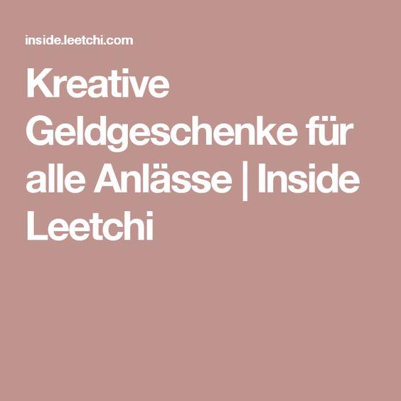 Kreative Geldgeschenke für alle Anlässe | Inside Leetchi