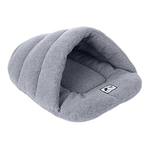 Pet Soft Warm Bed Polar Fleece Knnel House Puppy Dog Plush Crate Cozy Nest Cat Kitten Cave Winter Sleeping Bag Velvet Blanket Bed Mat Pad Comfortable Pet Cushion Christmas Gift for Small Dogs Cats *** Want to know more, click on the image.