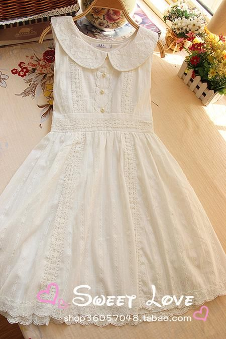Cute white spring sleeveless dress ¥ 89.00 shop36057048.taobao