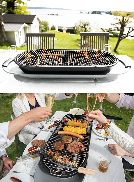 Social Grill Instead Of Playing Chef For Your Guests, This Tabletop  Charcoal Grill Makes Everyone