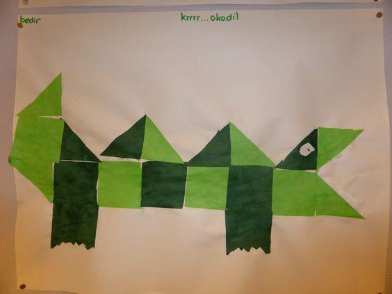 Krokodillen knutselen - Digibord Onderbouw