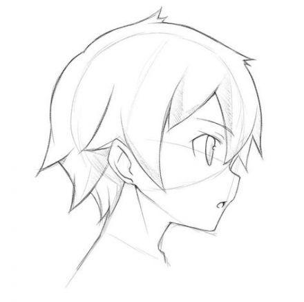 Hair Drawing Anime Side 27 Ideas Anime Head Anime Face Shapes Boy Hair Drawing