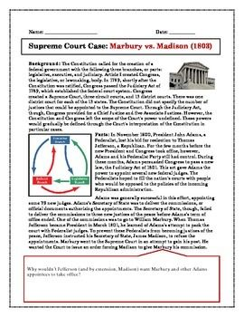 Printables Marbury V Madison Worksheet supreme court case study marbury v madison cartoon the ojays free article that describes background and significance of vs judicial review