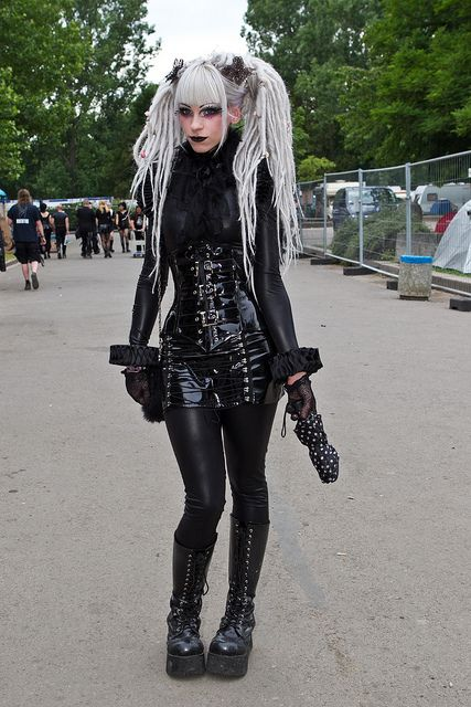 Cyber goth outfit