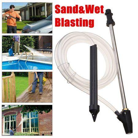 Patio Garden Sandblasting Kit Washer Wet Sandblasting