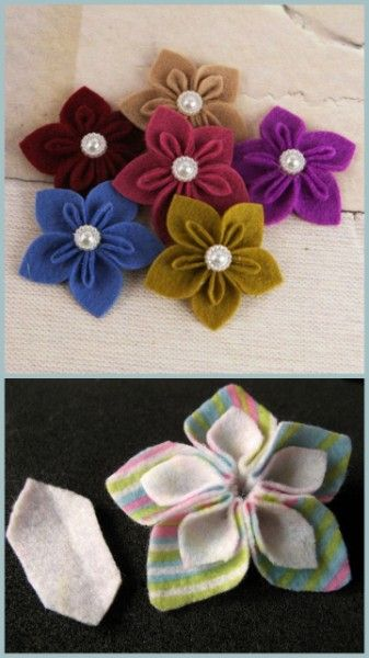 Great felt flowers tutorial from JimJams, I'm going to try these soon.: