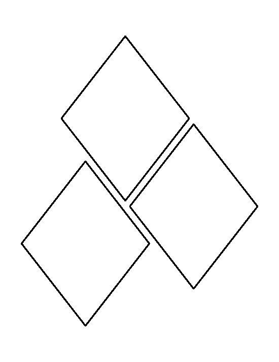 Harley quinn diamond outline