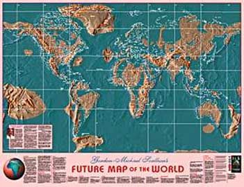 Edgar Cayce map of expected changes globally: