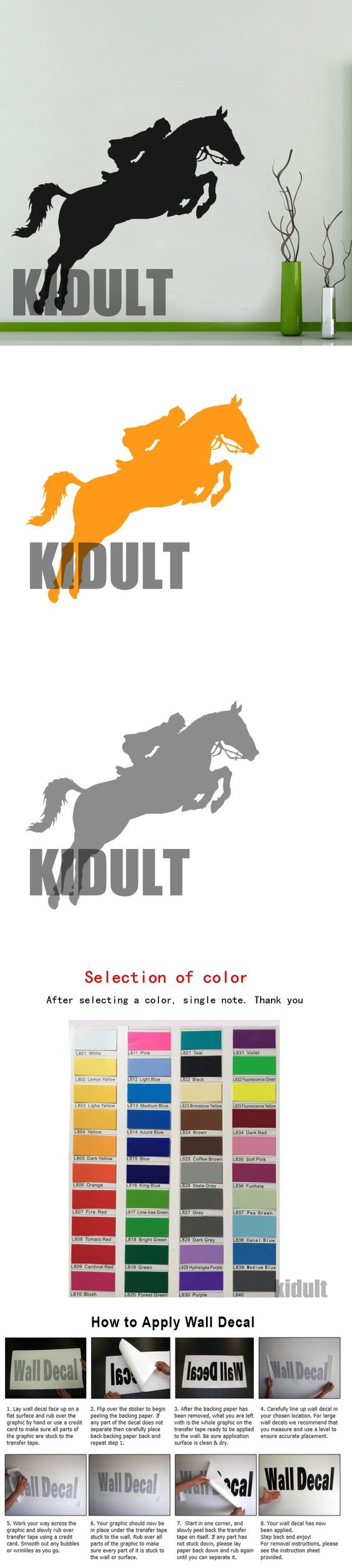 Animal wall decals kids personalized pony western wall stickers animal wall decals kids personalized pony western wall stickers home interior wall decoration multicolor and amipublicfo Images