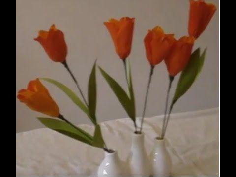 How to make paper flower tulips youtube like how she uses pips how to make paper flower tulips youtube like how she uses pips for stamen maybe use with artsncraft4u tulip paper flowers pinterest flower mightylinksfo