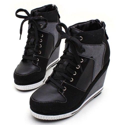 Wedge High Heel Sneakers