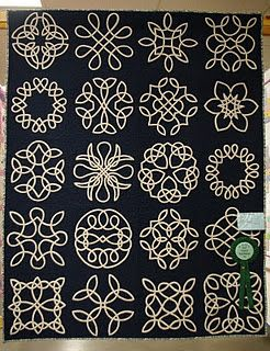 "Sandi Mac's ""Celtic Sampler"" won Best Hand Applique in 2010.  Photo by Linda Hubbard.:"