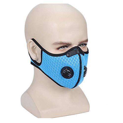 Face Mask Veil Reusable Carbon Activated Filters Black Cloth Face Mask Null In 2020 Mask Face Mask Cycling Mask