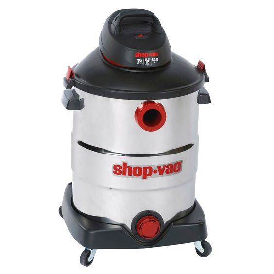ShopVac 16 Gallon SS Wet/Dry Vacuum, White