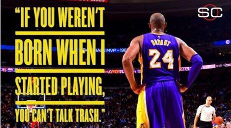 Big words from Kobe Bryant