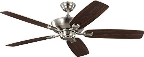 Monte Carlo 5com52bs Colony Max 52 Outdoor Ceiling Fan With Pull Chain 5 Blades Brushed Steel Brushed Steel Outdoor Ceiling Fans Ceiling Fan