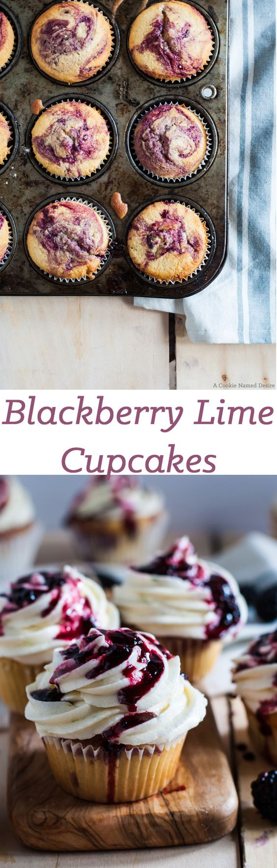 These blackberry lime cupcakes are moist, fluffy, and the perfect summertime treat you will want to keep coming back for more. Bonus: It's easy to make!