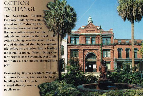 Cotton Exchange, Savannah, Georgia postcard